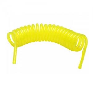 Spiralschlauch für Kraftstoffe Benzin Kerosin Rauchöl gelb 3x5 mm 2m