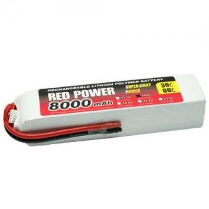 LiPo Red Power SLP 4er 14,8/8000 30C