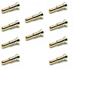 Goldkontaktstecker 4.0 und 5.0mm abgestuft 10Stk
