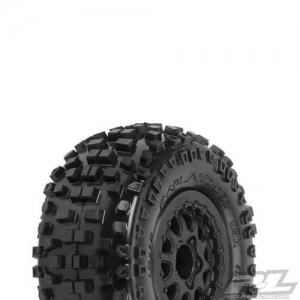 Reifen Proline Badlands 2.2 Short Course auf Felgen Renegade Black