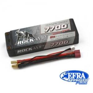 LiPo Rockamp 2er 7,6/7700 45C HV Hardcase 5mm Buchse