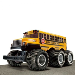 AB Tamiya King Yellow 6x6 Bus G601 lackiert 1:18