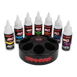 Traxxas Dämpfer-Öl Karussell mit Öl je 1x 20 30 40 50 60 70 & 80WT je 60ml