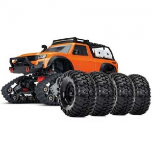 AB Traxxas TRX-4 Traxx All-Terrain orange Crawler mit Reifen-Set 4WD 2,4 GHz
